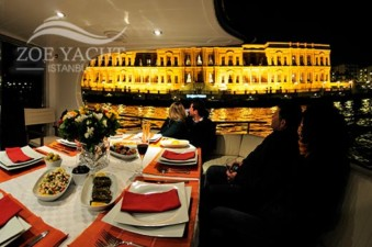 Photo of our Bosphorus tour boat for a dinner cruise in Istanbul Turkey